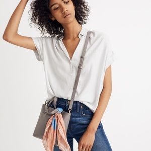 Madewell Central Shirt Luis Stripe White